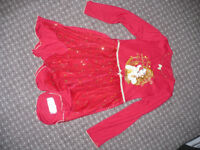 Disney Belle/ Beauty and the Beast red fancy dress/ nighty for girl 6-7 years. Very good condition.