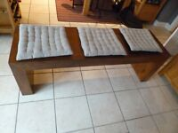 NEXT mango wood bench seat / coffee table, contemporary