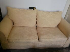 Yellow Couches Two and Three Seater.Fine Condition