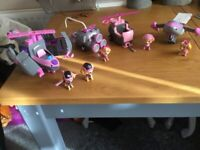 Paw Patrol 5 sky dogs and 4 vehicles