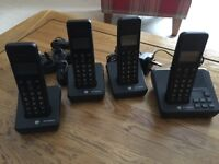 BT Freelance Digital Answer machine and 4 x handsets