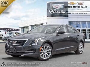 2018 Cadillac ATS $111 Weekly + HST 72 Months @ 0% / AWD / Na...