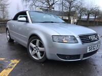 Audi A4 Convertible 2.4 Automatic 90k FSH £1500