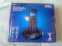 BT Home Phone with Answering Machine Graphite 2500