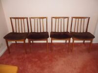 Dining/Occasional Chair - Wood Frame/Dark Brown Dralon Seat Cover