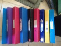9 Ring Binders for School, College, Office or University - 40p each or £3.00 all