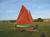 Boat for sale (Classic Gaff rig) sail row or motor, very versatile, easily handled and launched.