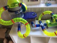 Hamster cage with tunnels and hamster ball and bedding- please read