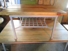 Solid Upcycled Plank Topped Coffee Table