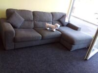 Sofology grey corner sofa tags attached