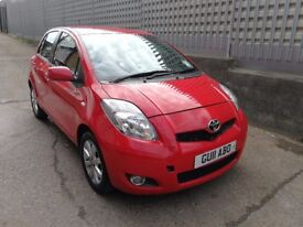 Toyota Yaris T-Spirit Manual 2011 Red 5 Door Hatchback 1L SatNav Parking Sensor