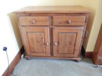 Antique Pine Drawer / Cupboard Unit - ideal for renovation / painting / restoration