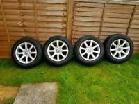 VW 15 inches alloys with extra set of winter tyres