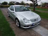 2006 MERCEDES BENZ C 160 SPORTS COUPE KOMPRESSOR 1.8 PETROL SILVER