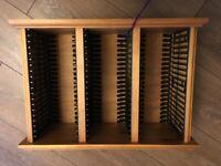 Wooden CD Rack / CD cabinet - holds 54 Music CD's