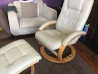Swivel Breast Feeding Chair with Footstool