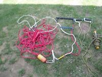 Ski Ropes, pulley and clips