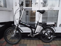 Byocycles folding electric bike with 36v 20.4Ah long range Li ion batteries