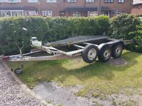 2 ton car transporter tilt bed trailer with electric winch