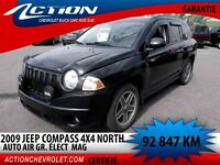 2009 Jeep Compass 4X4 NORTH AUTO AIR 4 CYL MAF