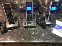 BT Synergy Triple Cordless Phones with Answer Machine