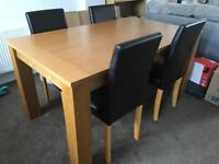 Large Extending Dining Table And Chairs