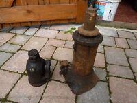 2 Barn find Hydraulic Jacks £15