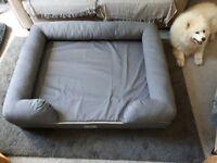 LARGE ORTHOPEDIC DOG BED, NEARLY NEW