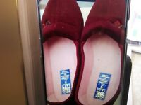 Ladies slippers size 5 and 6