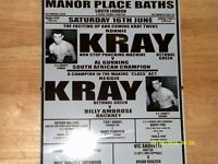 kray twins boxing poster framed small poster