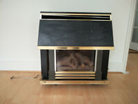 ROBINSON WILLEY GEM FLAME GAS FIRE WITH CERAMIC WOOD LOGS