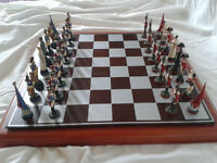 Battle of Waterloo. Wellington Chess Set