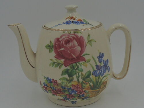 Vintage Royal Winton Tea for One Teapot Countess Pink Roses