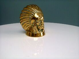 Brass Indian Chief head
