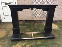 Black solid wood Fire Surround
