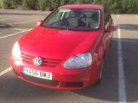 2006 Volkswagen Golf Hatchback 1.6 Match FSI Petrol Red Manual
