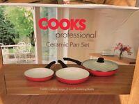Cooks professional 3 non stikc frying pan set