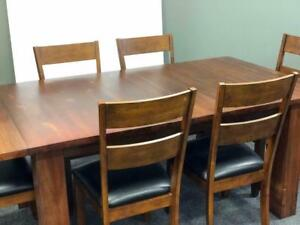 50% OFF COSTCO.CA DINING TABLE AND 6 CHAIRS  In Stock SOLID WOOD -