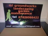 ml groundworks and landscaping garden maintence