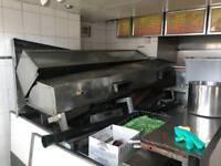 Fish and chip shop range, metal, take away shop equipment