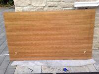 Double walnut veneer headboard