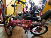 Raleigh Chopper Pink sturdy archer 3speed(on handlebars)