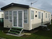 A NEW 8 BERTH GOLD CARAVAN FOR HIRE ON BUNN LEISURE WEST SANDS PARK IN SELSEY WEST SUSSEX