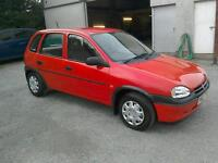 96 Vauxhall Corsa 1.4 LS only 47000 mls history ( can be viewed inside anytime)