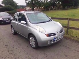 2003 Nissan Micra 1,2 litre 3dr 2 owners