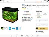 Fishtank excellent condition - tropical or cold fish... 64 litre . 60cm.