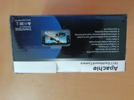 Apachie T617 Dashcam, HD 30 frames per second, 1080 Full HD, night vision, microSD not included