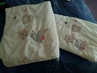 Baby cot bumper and duvet