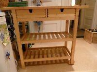 Ikea pine kitchen trolley