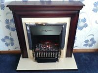 fire surround with electric fire coal afect